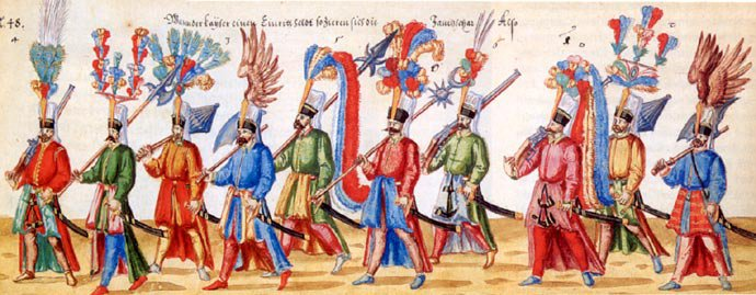 Marching Ottoman army